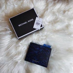 Michael Kors Men's Slim Wallet Indigo